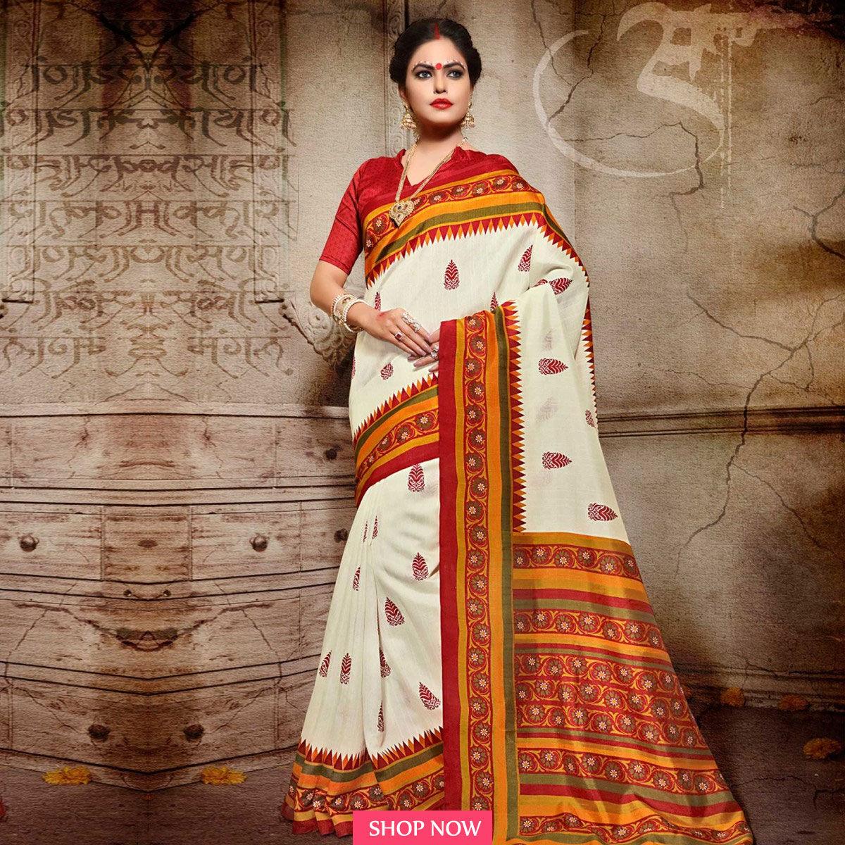 saris this Durga Puja